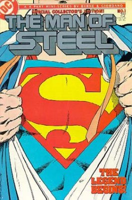 Man of Steel (1986) #1 (Silver Logo)