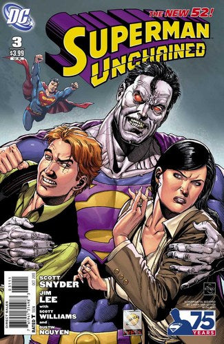 Superman Unchained (2013) #3 (75th Anniversary Variant Villain Cover)