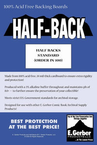 E. Gerber Half Backs Standard (100 Count Pack)
