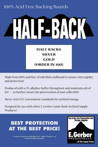 E. Gerber Half Backs Silver/Gold (100 Count Pack)