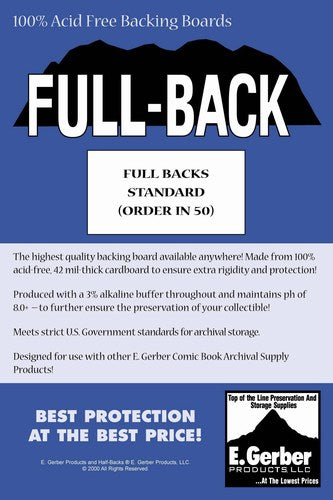 E. Gerber Full Backs Standard (50 Count Pack)