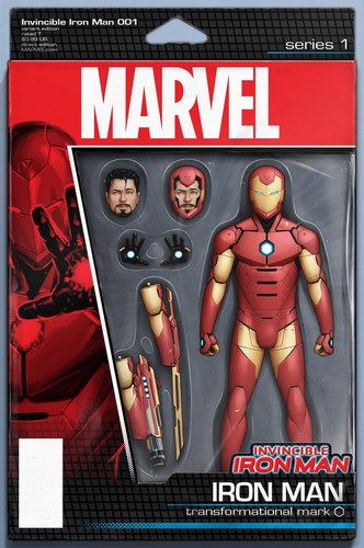 Invincible Iron Man (2015) #1 (Action Figure Variant)