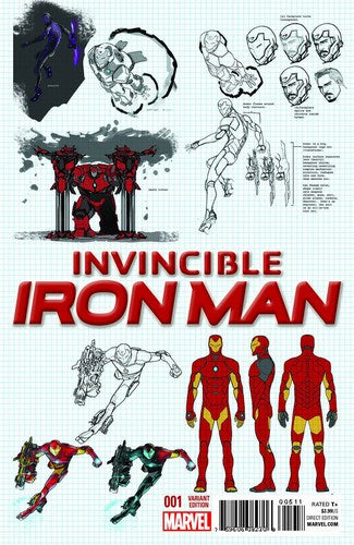 Invincible Iron Man (2015) #1 (1:25 Design Variant)