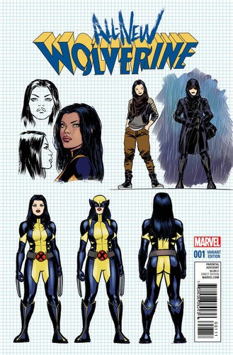 All New Wolverine (2015) #1 (1:20 Lopez Design Variant)