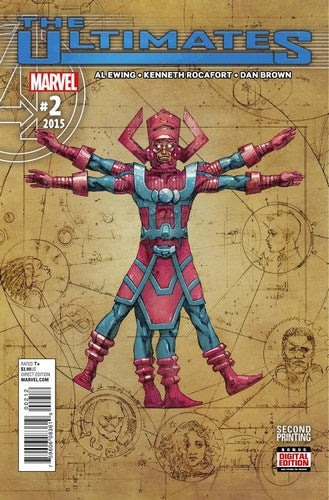 Ultimates (2015) #2 (Rocafort 2nd Print Variant)