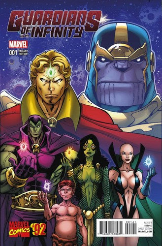 Guardians of Infinity (2015) #1 (1:20 Lim Marvel 92 Variant)
