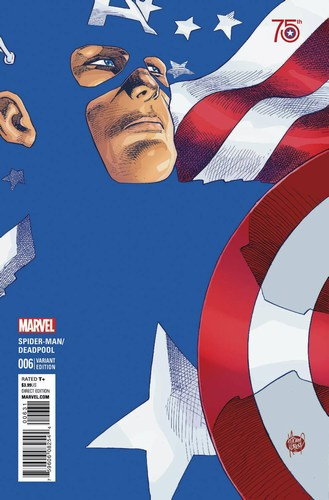 Spider-Man Deadpool (2016) #6 (1:50 Captain America 75Th Anniv Variant)