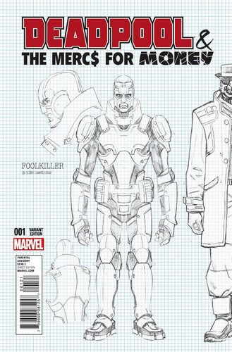 Deadpool Mercs for Money (2016) #1 (1:20 Hawthorne Design Variant)
