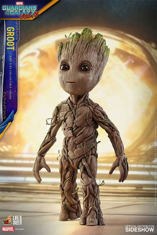 Baby Groot Guardians of the Galaxy 2 Masterpieces Life-Size Figure Hot Toys