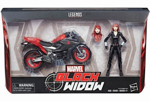 Marvel Legends 6-Inch Black Widow Action Figure With Motorcycle