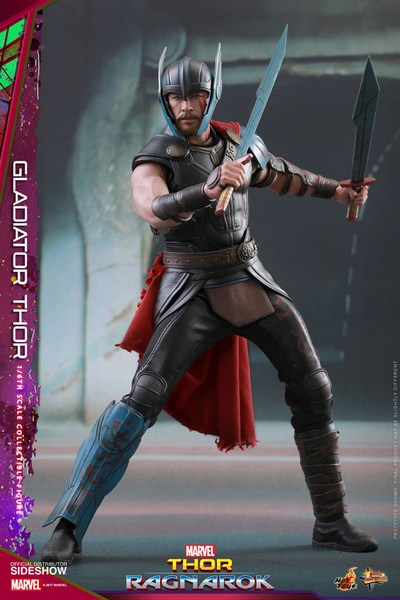 Gladiator Thor 1:6 Scale Action Figure - Thor Ragnarok Hot Toys