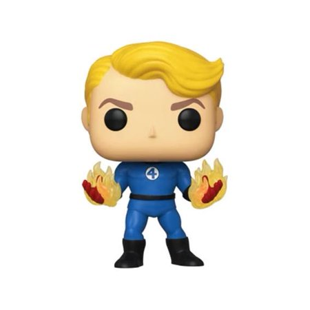 Pop Marvel Fantastic Four Human Torch Vinyl Figure (Suited) Glow-In-The-Dark