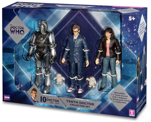 Doctor Who 10th Doctor With Adipose, Sarah Jane, and Cyberman Action Figure Set