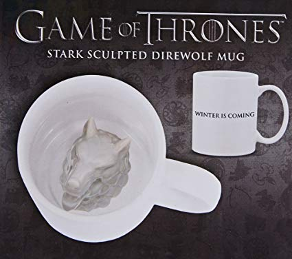 Stark Sculpted Direwolf Mug Game of Thrones