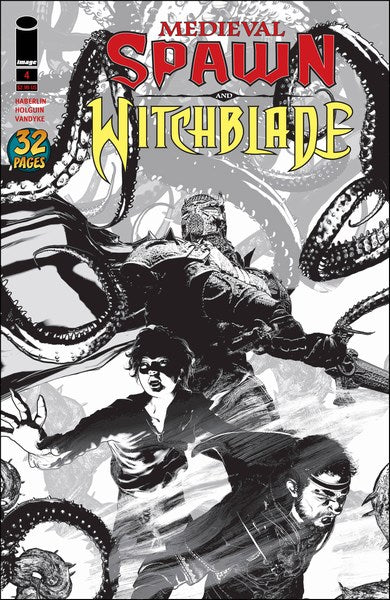 Medieval Spawn Witchblade (2018) #4 (Cover B Haberlin B&W)