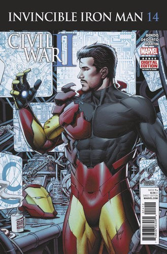 Invincible Iron Man (2015) #14 (2nd Print Keown Variant)
