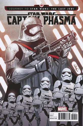 Journey to Star Wars The Last Jedi Captain Phasma (2017) #4 (1:25 Charretier Variant)