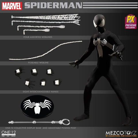 One-12 Collective Marvel Spider-Man Black Suit Action Figure