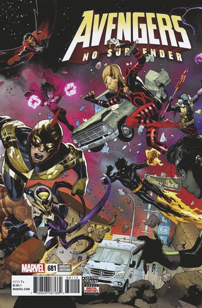 Avengers (2017) #681 (2nd Print Brooks Variant)