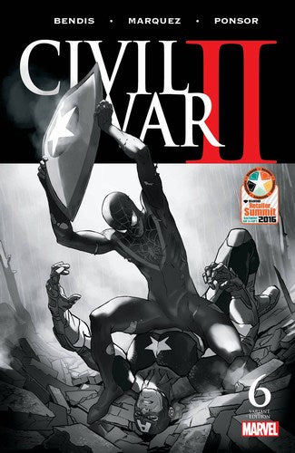 Civil War II (2016) #6 (Retailer Summit Djurdjevic B&W Variant)