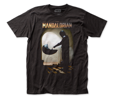 STAR WARS THE MANDALORIAN, MANDO MEETS THE CHILD FITTED JERSEY T-SHIRT