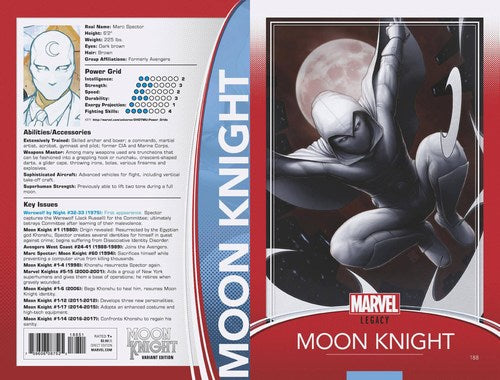 Moon Knight (2017) #188 (Christopher Trading Card Variant Leg)