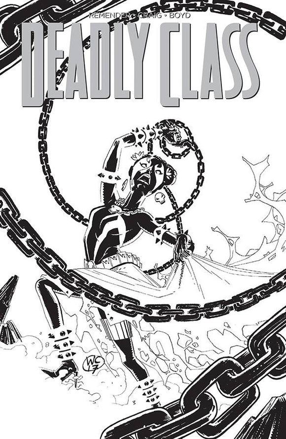 Deadly Class (2014) #28 (Cover D Spawn Month B&W Variant)