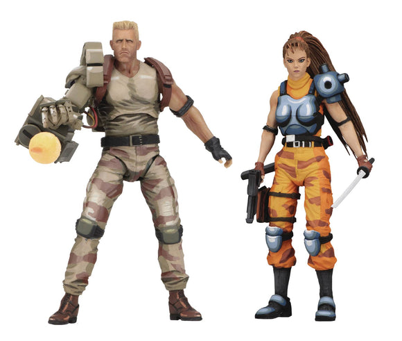 ALIENS VS PREDATOR DUTCH & LIN 7IN SCALE AF 2PK