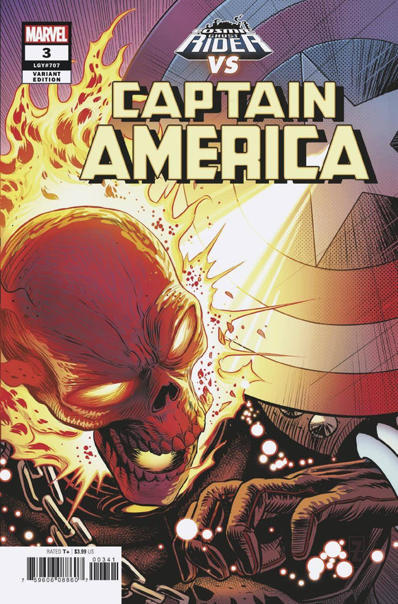 Captain America (2018) #3 (ZIRCHER COSMIC GHOST RIDER VARIANT)