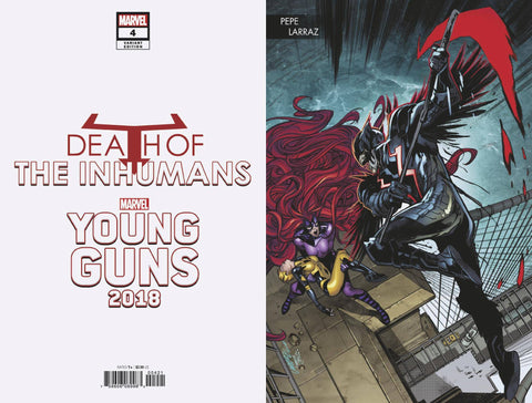 Death of the Inhumans (2018) #4 (LARRAZ YOUNG GUNS CONNECTING VAR)