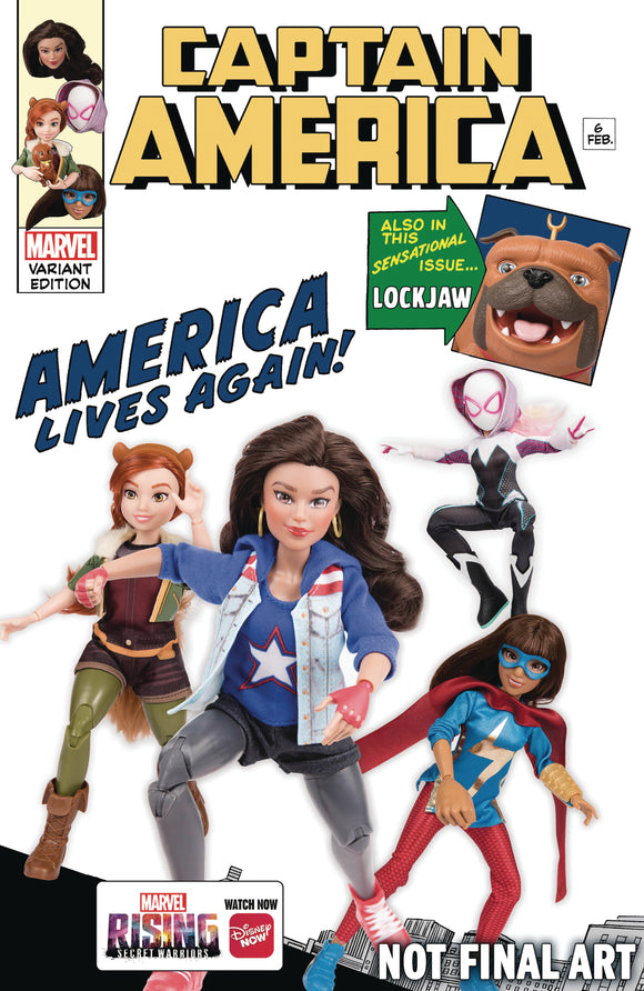 Captain America (2018) #6 (Marvel Rising Action Doll Variant)