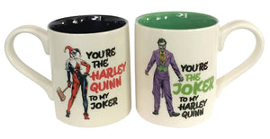 DC HEROES ONIM HARLEY AND JOKER MUG SET
