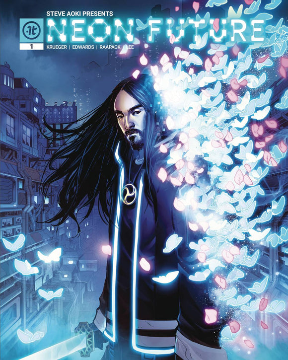 NEON FUTURE #1 (OF 6) (CVR A RAAPACK - signed by Steve Aoki at Retailer Summit)