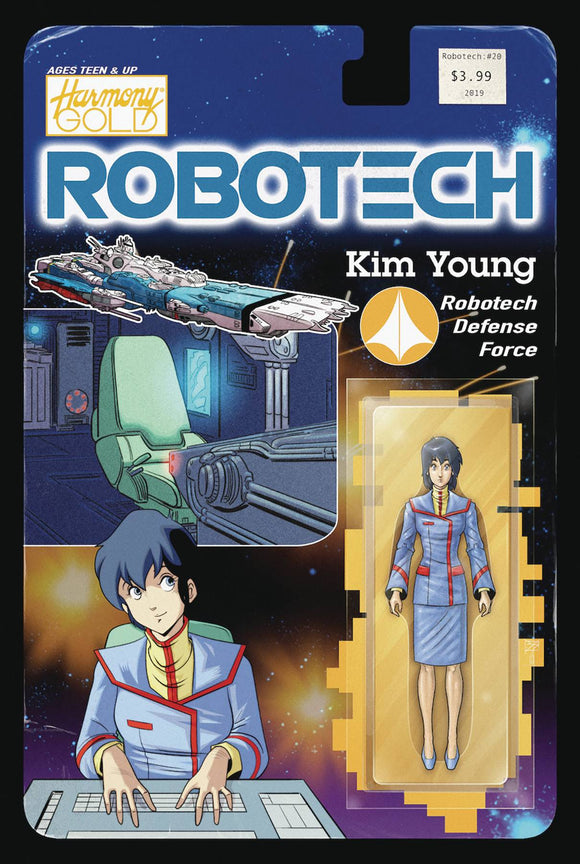 Robotech (2017) #20 (COVER B ACTION FIGURE VAR)