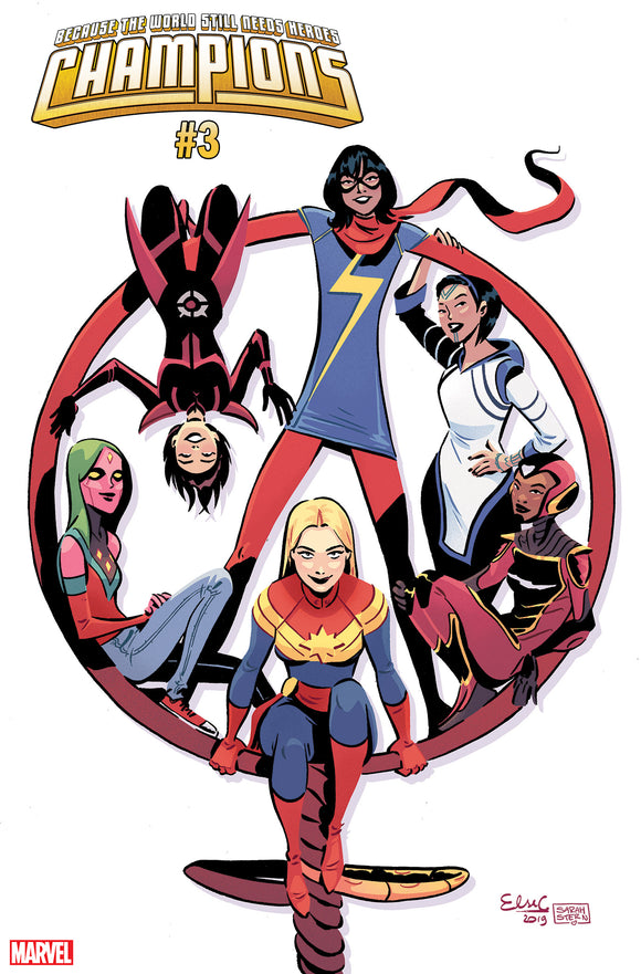 Champions (2019) #3 (CHARRETIER INTERNATIONAL WOMENS DAY VARIANT)