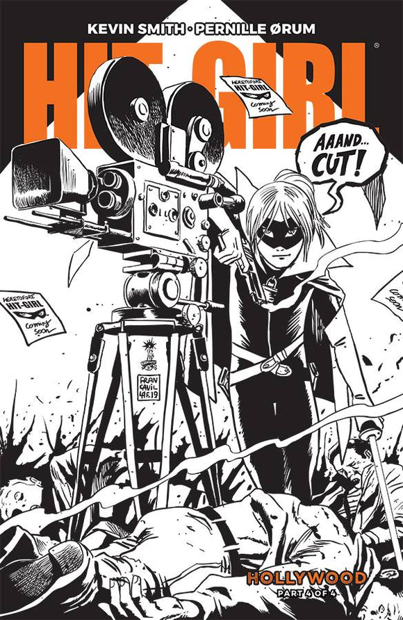 Hit-Girl Season Two (2019) #4 (COVER B B&W FRANCAVILLA)