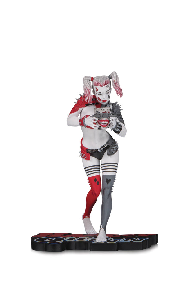 HARLEY QUINN RED WHITE & BLACK STATUE BY GREG HORN