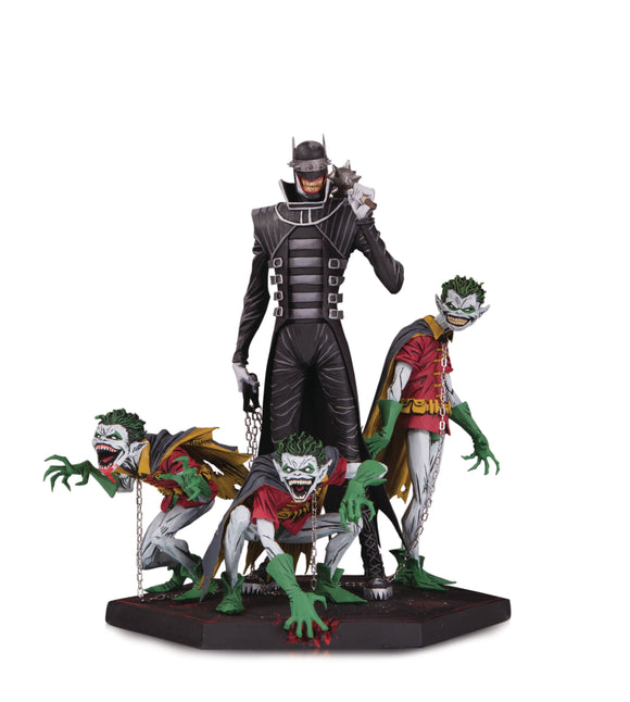 DARK NIGHTS METAL BATMAN WHO LAUGHS & ROBINS DLX STATUE
