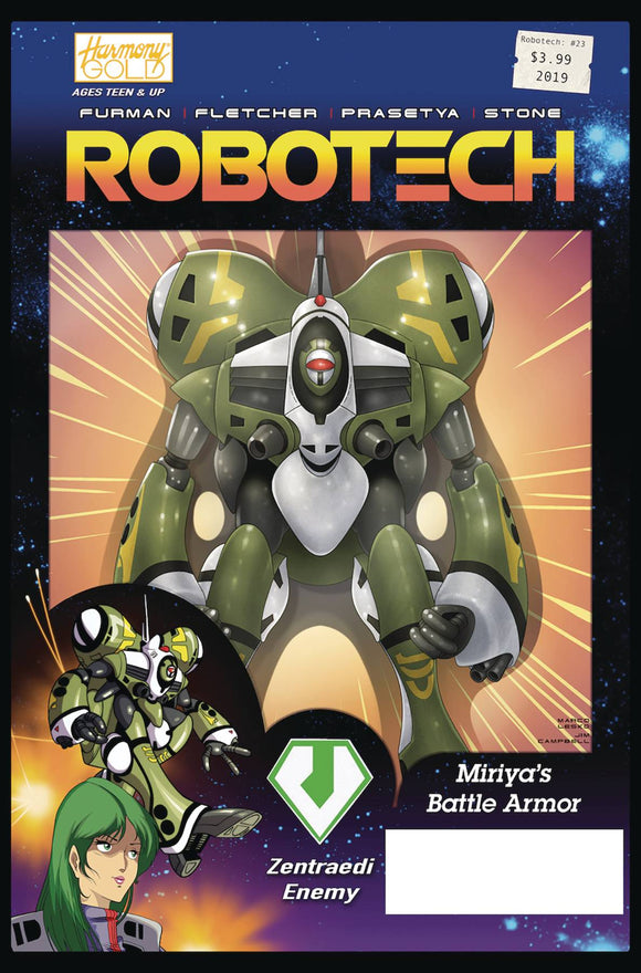 Robotech (2017) #23 (CVR B VEHICLE ACTION FIGURE VAR)