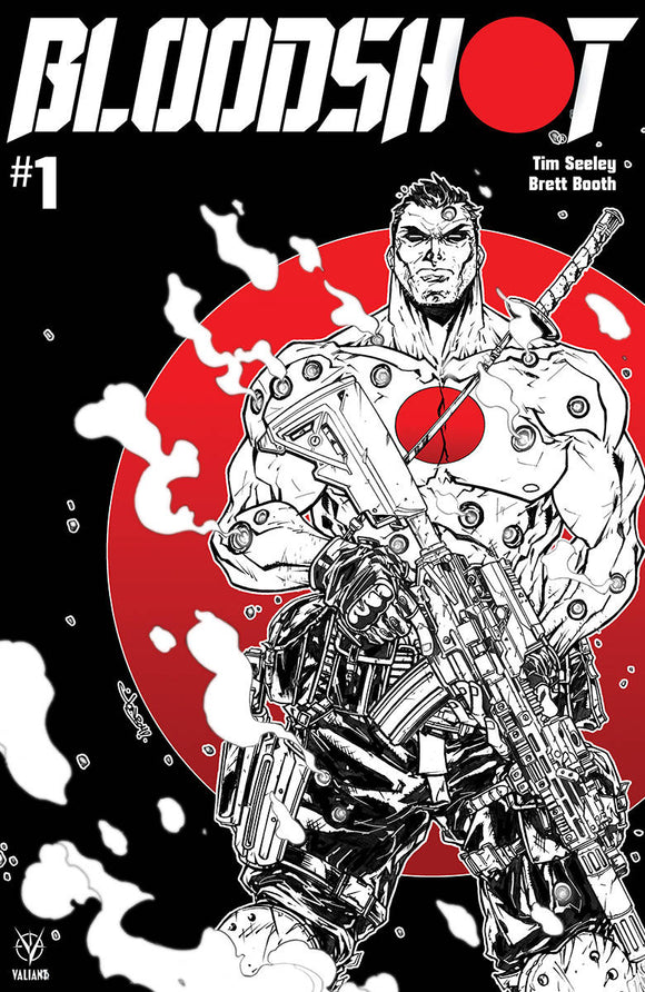 Bloodshot (2019) #1 (CVR D B&W & RED MEYERS)