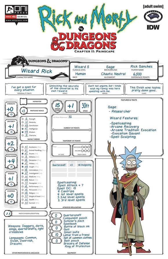 Rick & Morty Vs D&D II Painscape (2019) #1 (CVR D LOOK ZUB)