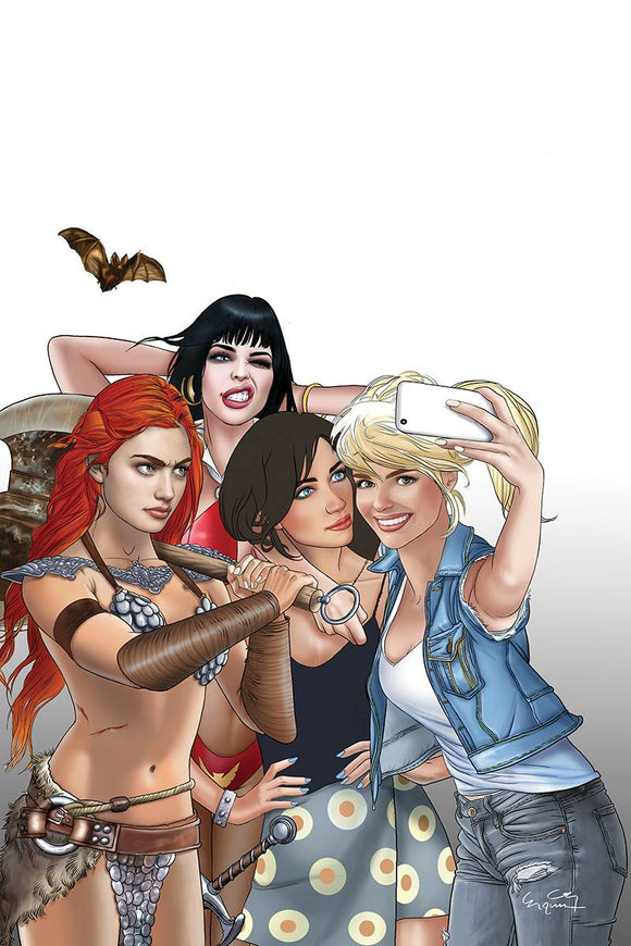 Red Sonja & Vampirella Betty & Veronica (2019) #1 (SELFIE VIRGIN LTD CVR)