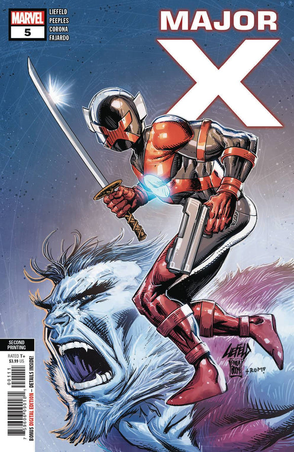 Major X (2019) #5 (2nd Print Liefeld Variant)