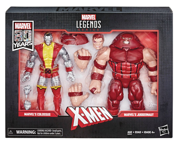 MARVEL LEGENDS 80TH ANN COLOSSUS/JUGGERNAUT 6IN AF SET