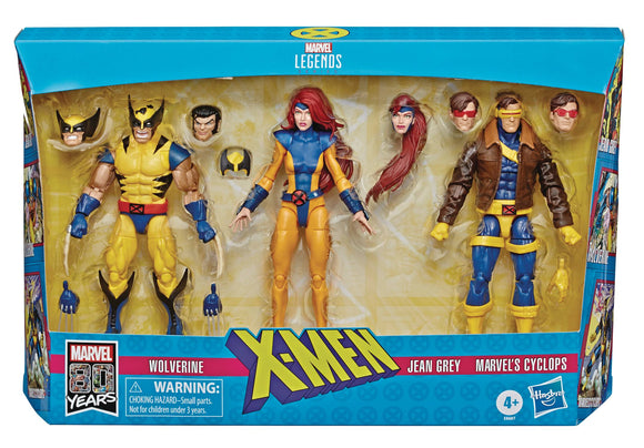 X-MEN LEGENDS WOLVERINE/JEAN/CYCLOPS 6IN AF 3PK
