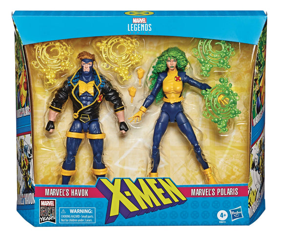X-MEN LEGENDS HAVOK/POLARIS 6IN AF 2PK