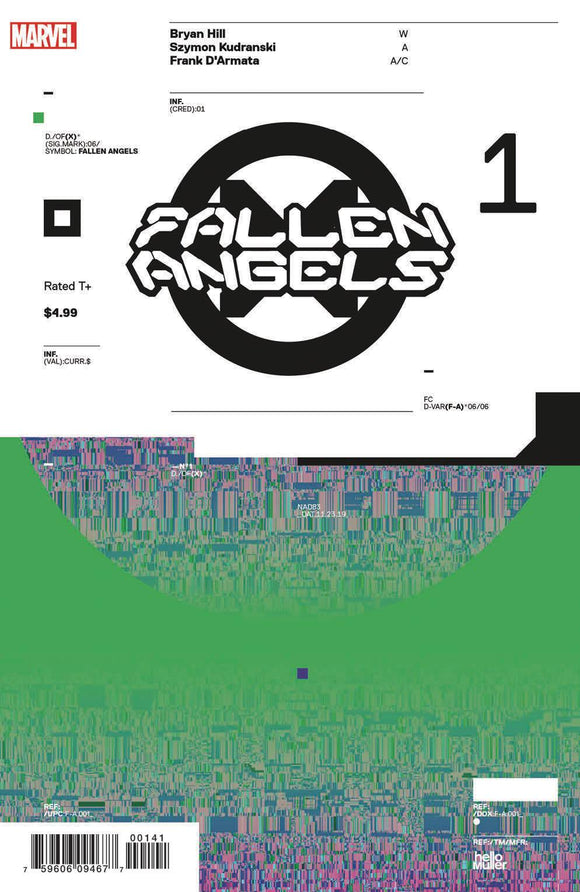 Fallen Angels (2019) #1 (1:10 MULLER DESIGN VAR DX)