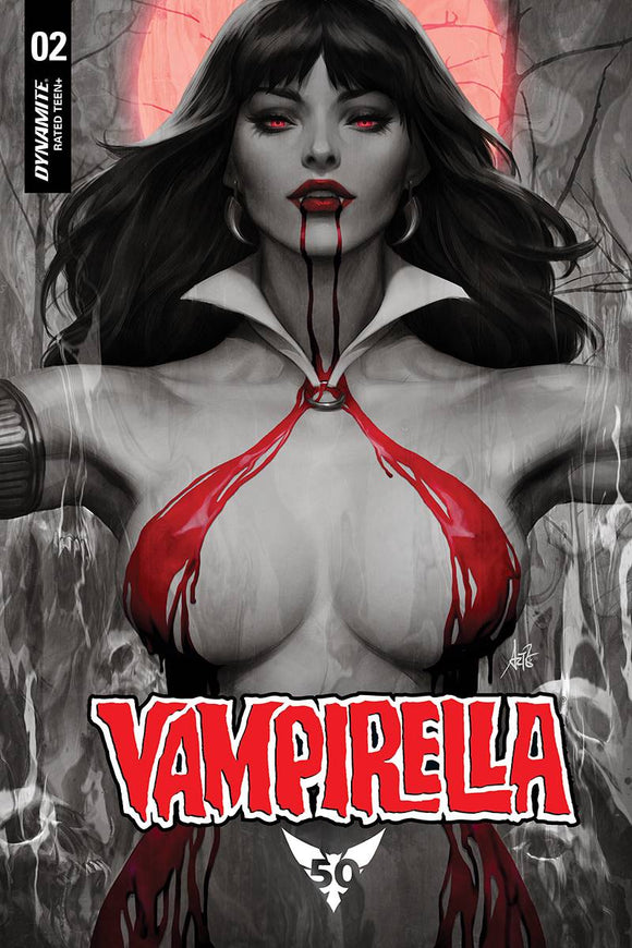 Vampirella (2019) #2 (ARTGERM BLOOD MOON VAR WITH DRESS)