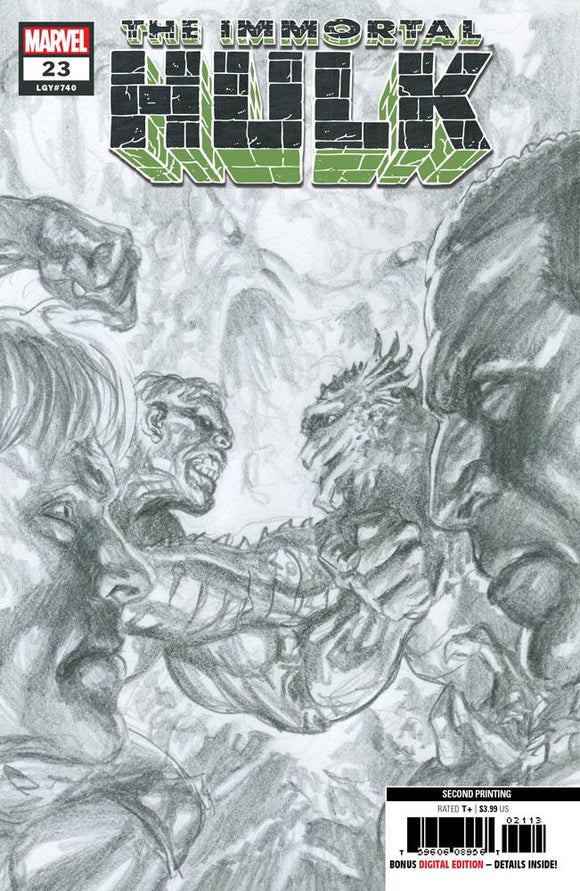 Immortal Hulk (2018) #23 (2nd Print Ross Variant)
