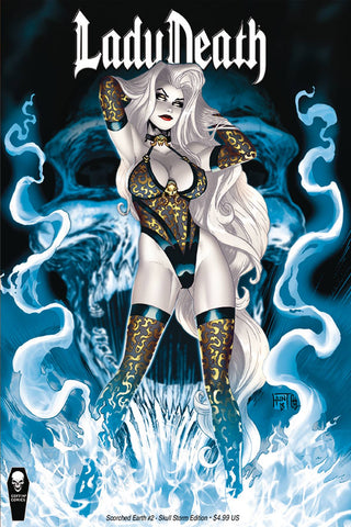 LADY DEATH SCORCHED EARTH (2020) #2 (OF 2) CVR B SKULL STORM ED (MR
